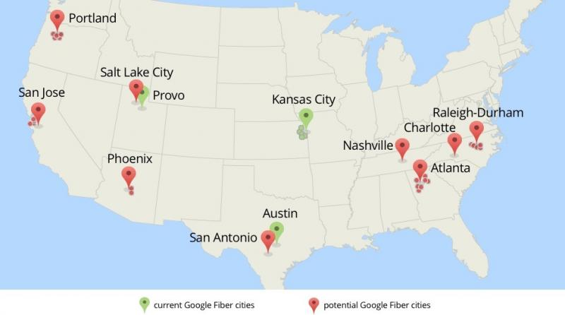 Nine metro areas, including San Antonio, have been selected to see if Fiber is a good fit