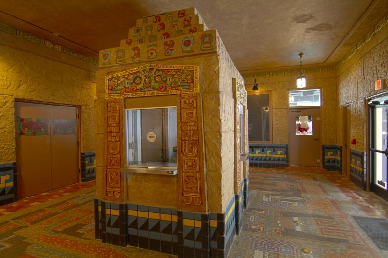 Aztec ticket booth.