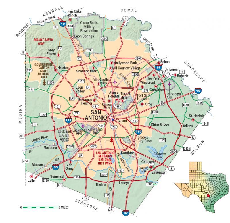 Bexar County and San Antonio area.