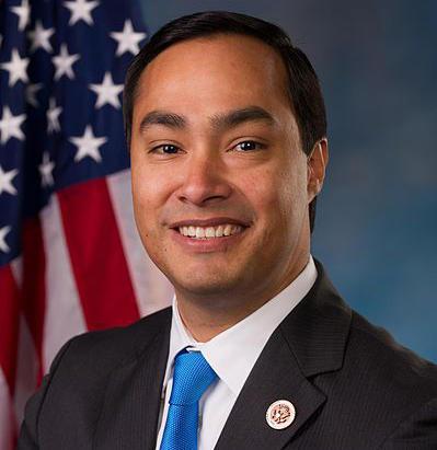 Congressman Joaquín Castro's official congressional portrait.