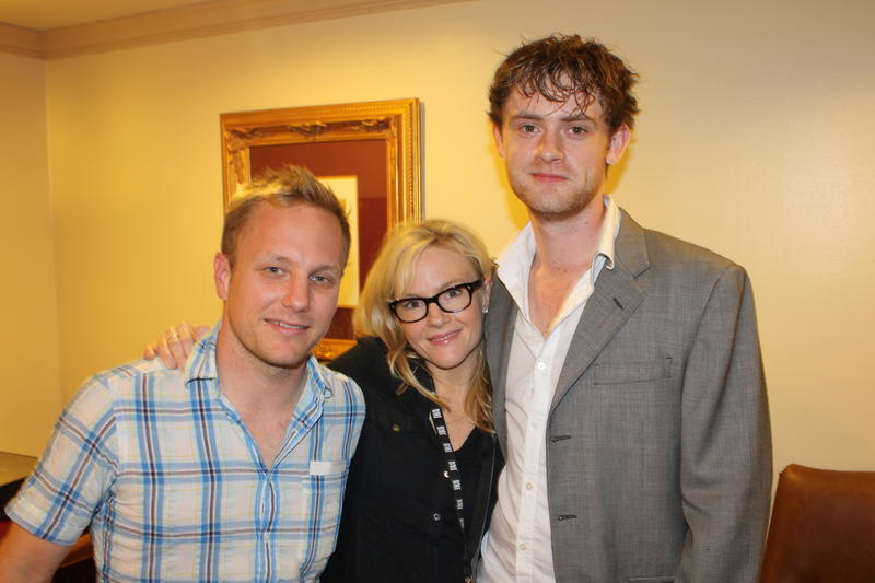 "From left to right: ""Natural Selection"" director Robbie Pickering, and the film's two lead actors Rachael Harris, and Matt O'Leary."