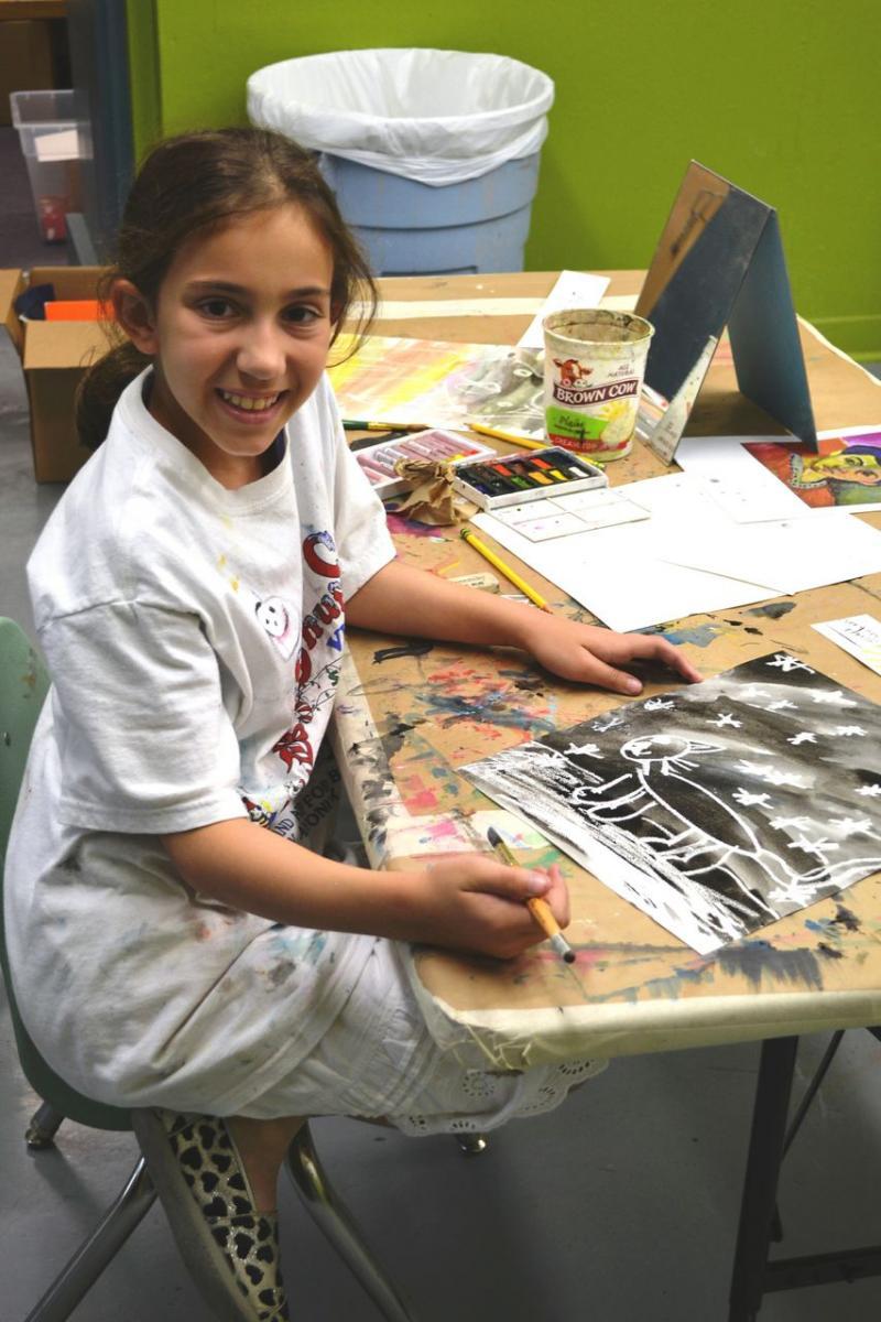 Student creating