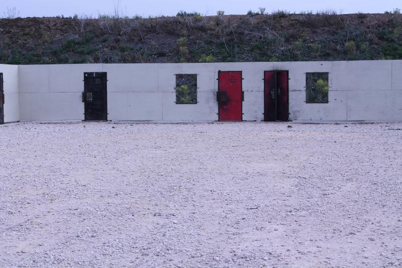 Breach-door Range at the state's Advanced Law Enforcement Rapid Response Training Center in Maxwell, Texas.