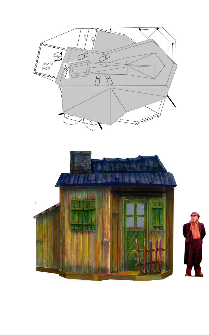 Design of Tevye's House, 2009-2010 Fiddler on the Roof National Tour