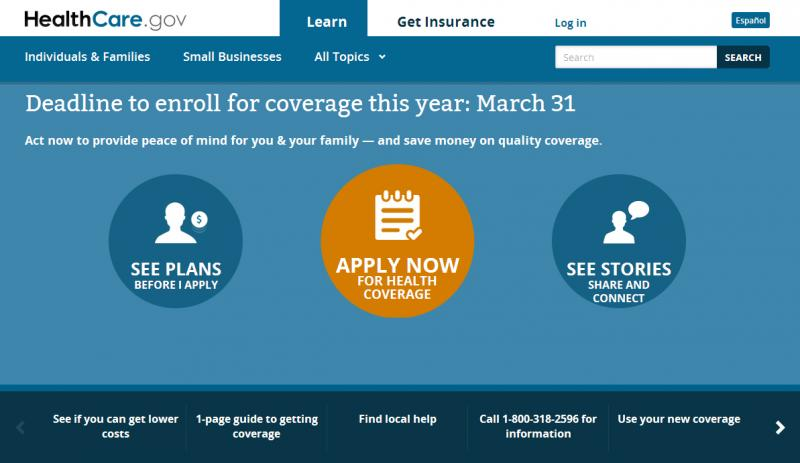 The deadline is March 31 to sign up for coverage this year at Healthcare.gov.