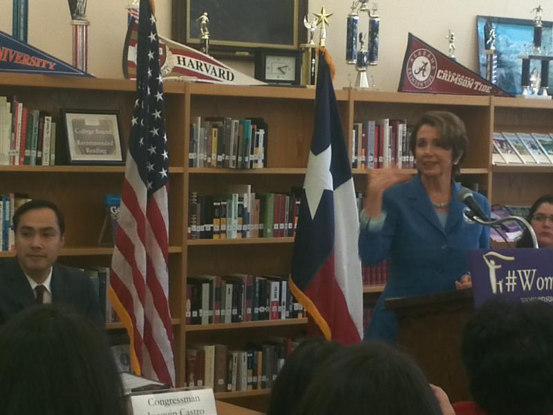 Minority Leader Nancy Pelosi joins Congressman Joaquin Castro for women's economic forum