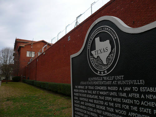 The Walls Unit for the Texas Department of Criminal Justice. Huntsville, TX