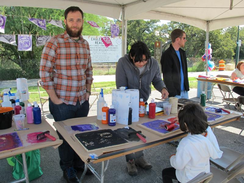 Artists at family day.