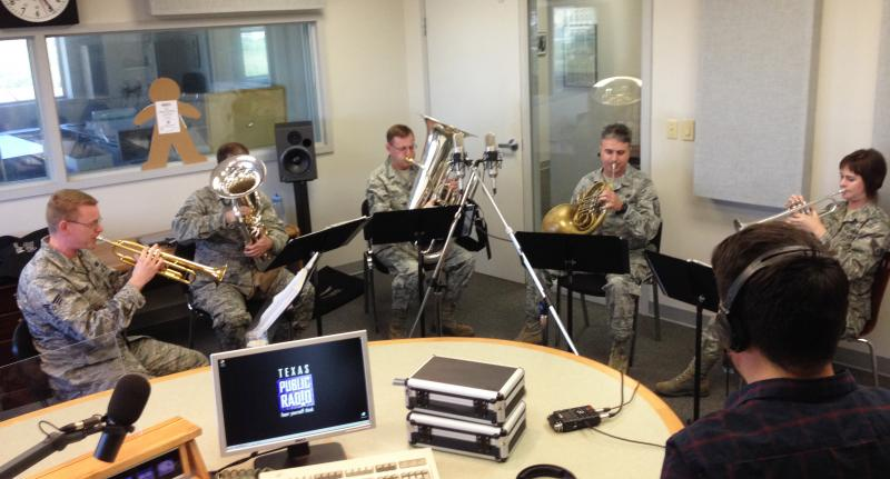 Gateway Brass performing in the TPR studios.