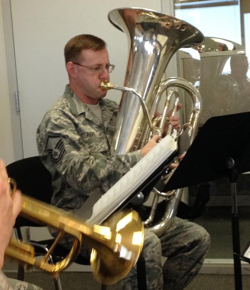 Master Sgt. John Rider, tuba.