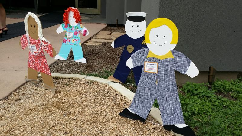 """Cardboard Kids"" will be displayed around town to highlight the problem of child abuse. To help spread the word to get people talking about child abuse, use #CardBoardKidsSA on social media platforms."
