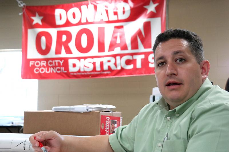 Donald Oroian is running for the San Antonio District 9 seat on the city council.