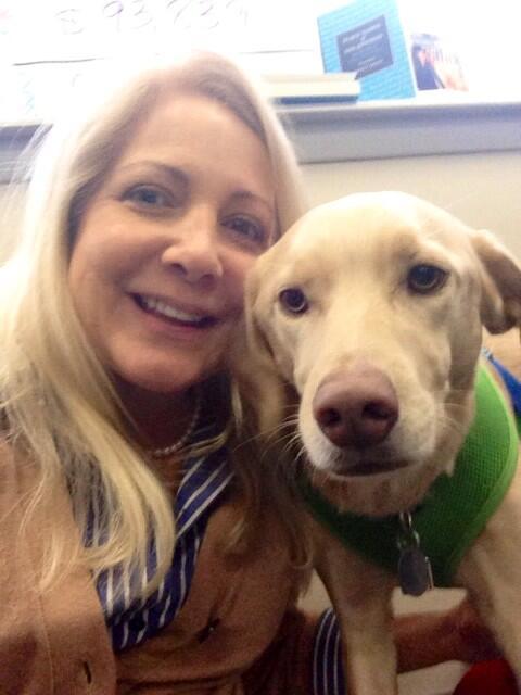 TPR CEO Joyce Slocum and pet member/volunteer Thurber