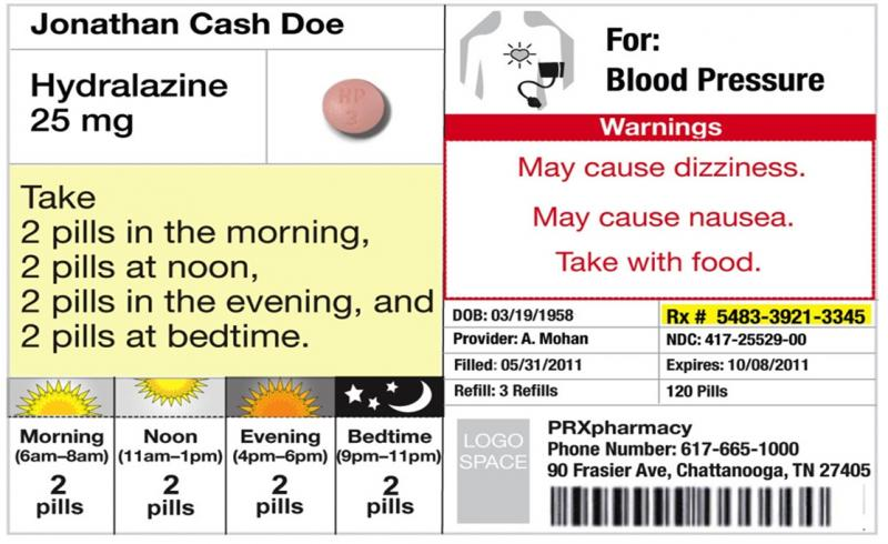 A new label concept introduced at the conference uses explicit text in the instructions window to make sure patients are clear on the dosage.