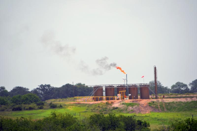 Eagle Ford Shale operation flaring additional gases.