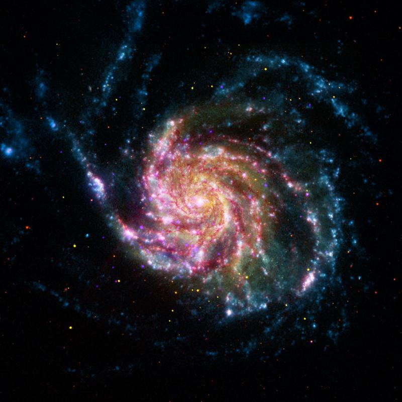 Pinwheel Galaxy (NASA, Chandra, Hubble, Spitzer, 05/24/12).