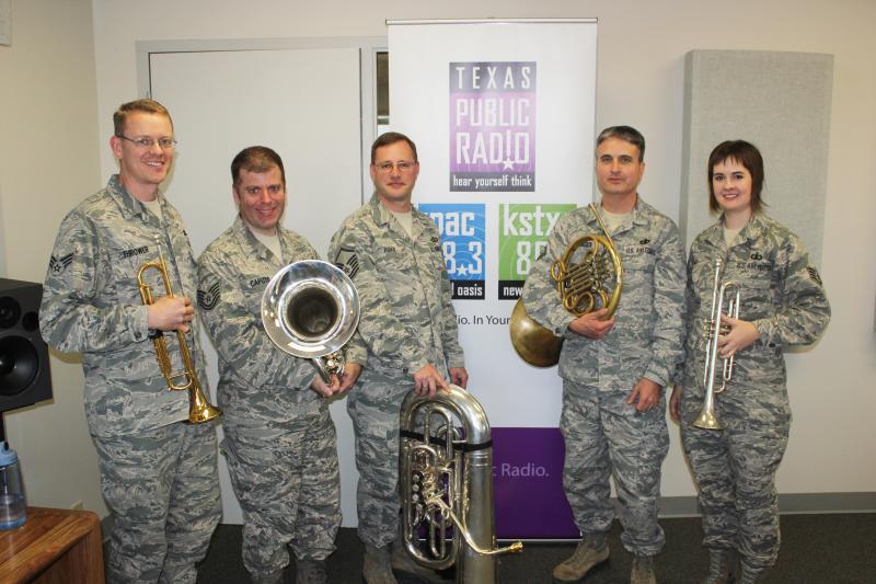 L to R: Senior Aiman Dan Thrower, Tech Sgt. John Caputo, Master Sgt. John Rider, Master Sgt. Hughey Hancock, Staff Sgt. Laura Kluga