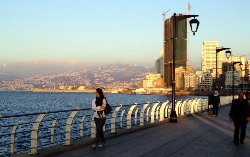 Beirut's Corniche Looking East