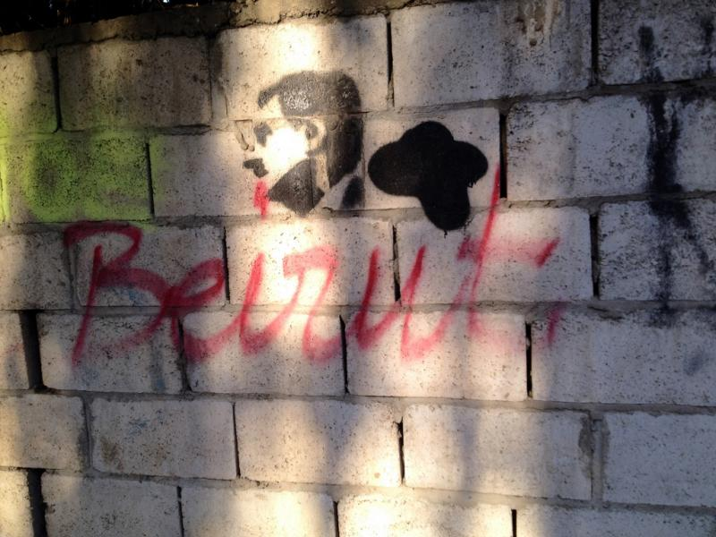 Beirut graffiti.