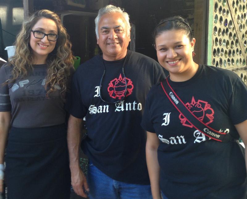 Cristina Ordoñez, Harvey Mireles (Exec Dir.), Samantha Lopez of San Anto Cultural Arts