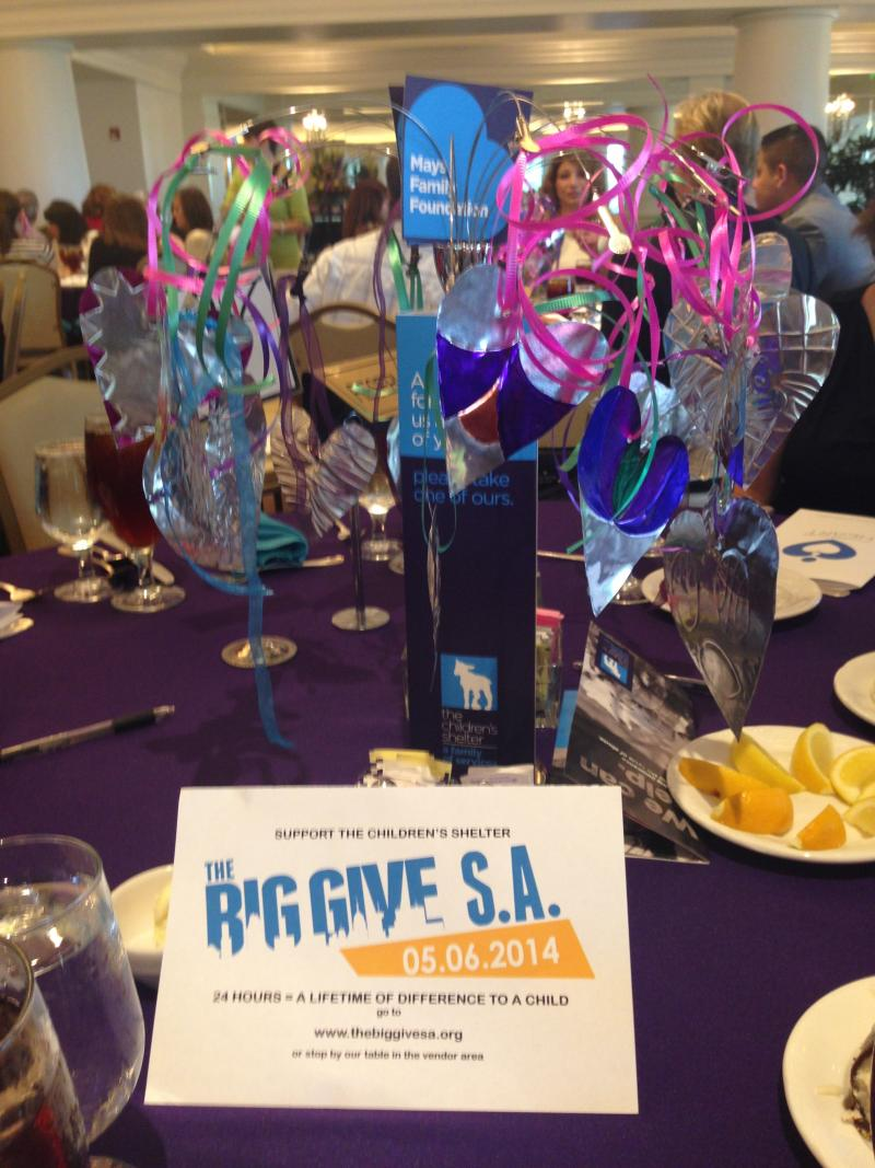 The Children's Shelter luncheon coincided with The Big Give.