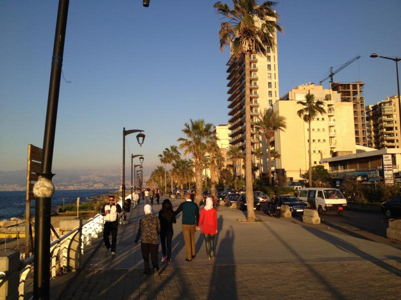 Evening walk along the Corniche.
