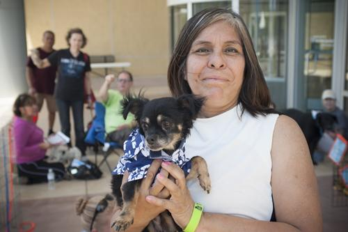 San Antonio Area Foundation's Talk About It! SA brought senior-friendly pets for adoption.