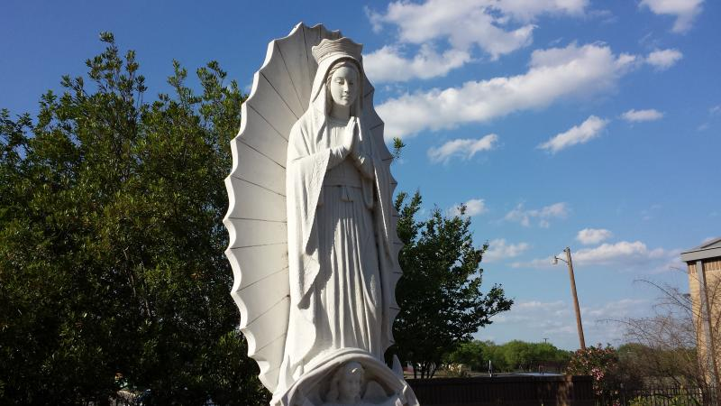 Statue at St. Rose of Lima Catholic Church in San Antonio.