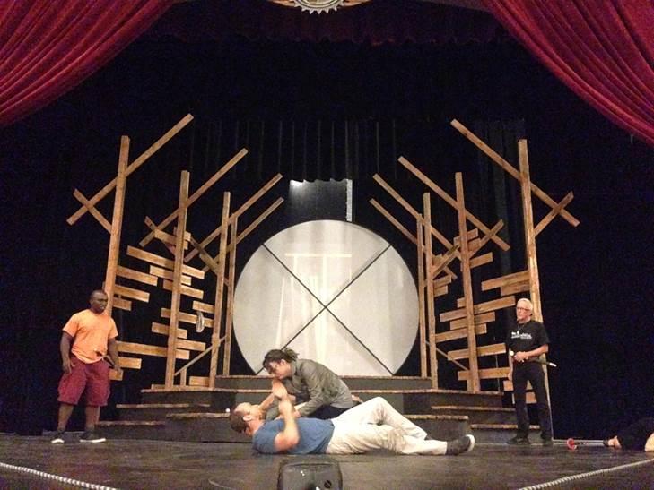 Hamlet rehearsal.
