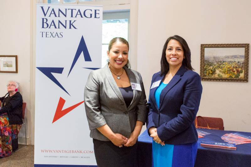 Maria Alonso and Melissa Saenz-Turner represented sponsor Vantage Bank
