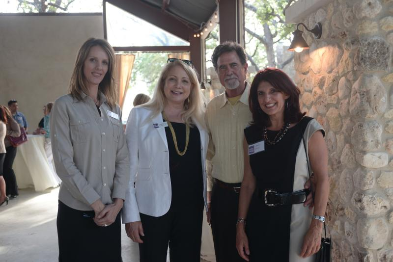 TPR's Kellie Fichter and Joyce Slocum with Don Lewis and Texas Mutual's Amy Wick