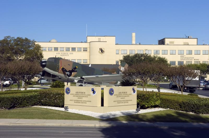 Headquarters of the 688th Cyberspace Wing at Joint Base San Antonio-Lackland, which expects almost 500 new airman will take new positions as part of the DOD's plan to step-up cyber defense efforts