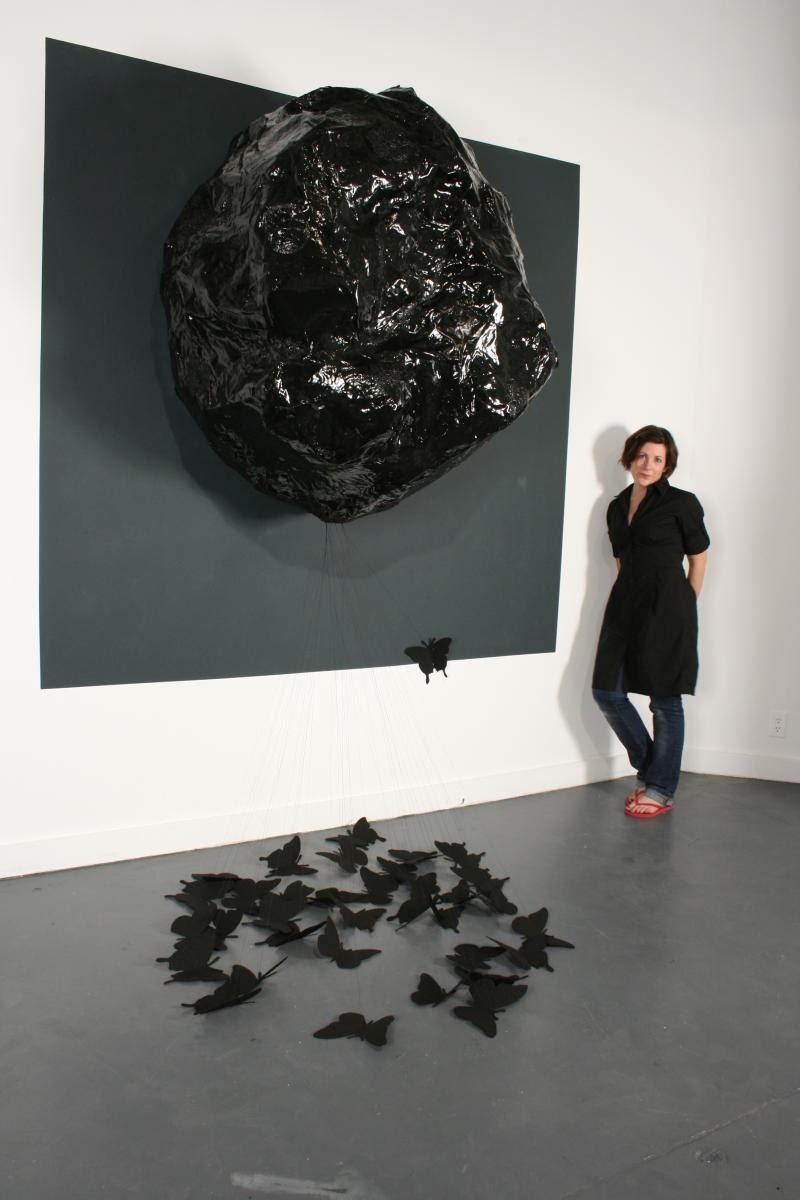 Margaret Meehan and her art.