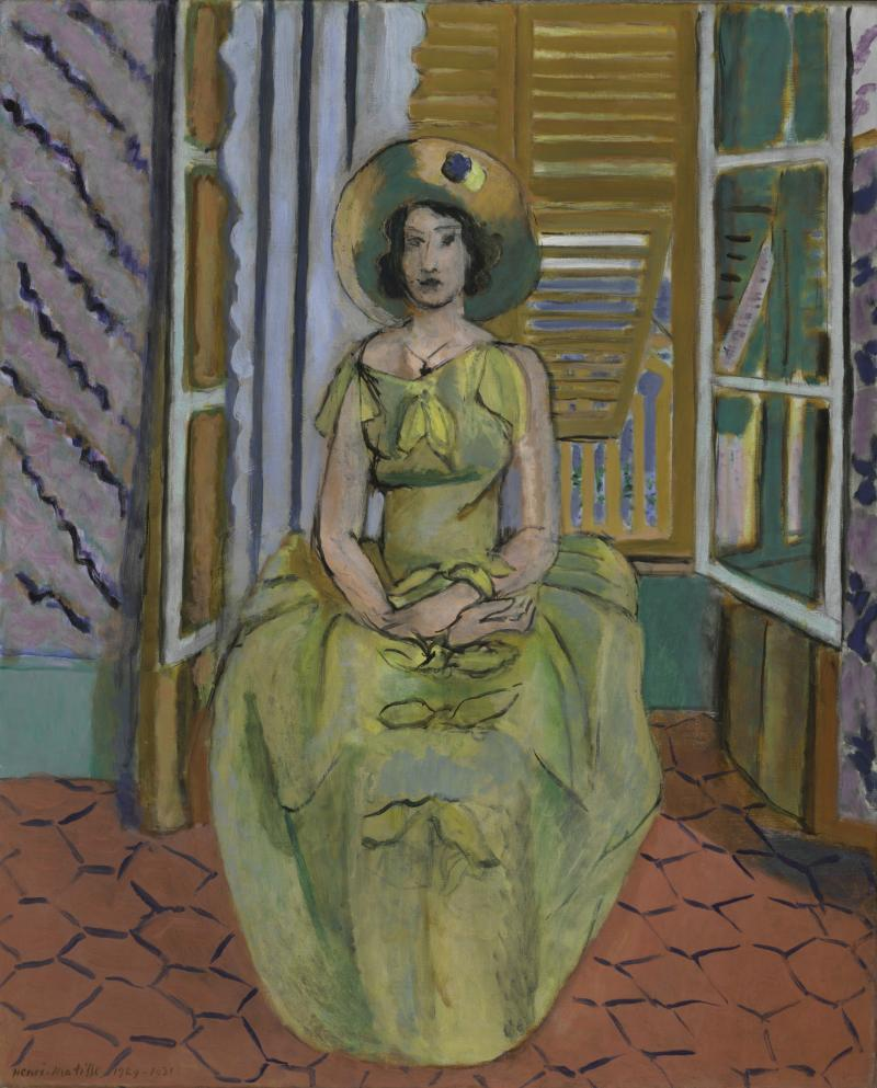 "Matisse ""The Yellow Dress."""