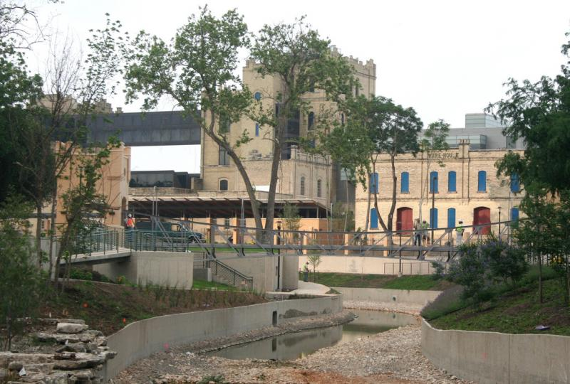 San Antonio River drained during Museum Reach Construction