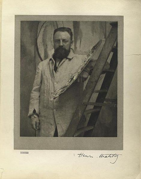 Matisse at his easel. May, 1913