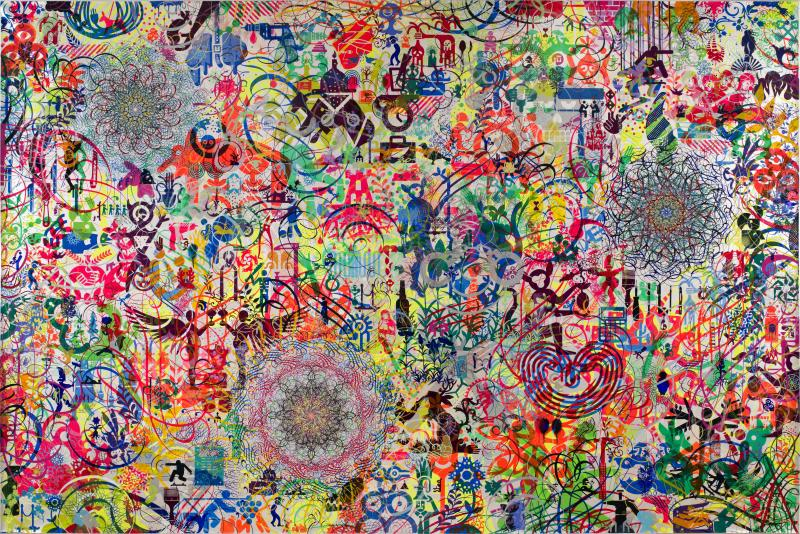 Ryan McGinness,  The Lazy Logic of Ignava Ratio , 2009