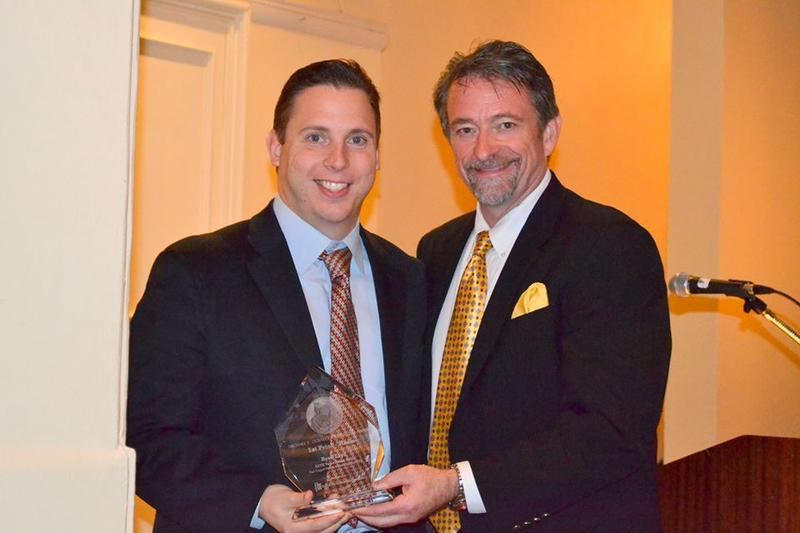 Ryan Loyd receives the national DeBakey award in 2013.