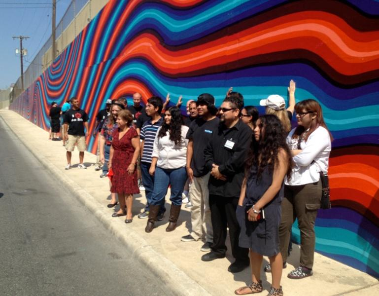 Dedication of mural at Nolan Street underpass.