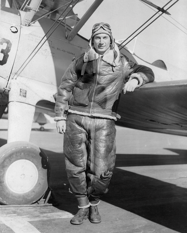 Gino Narboni as a young pilot.