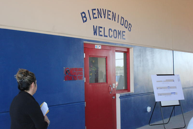 The is the first sight detainees see once entering the facility