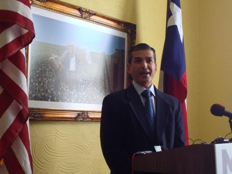 State Rep. Mike Villarreal holds press conference at his San Antonio office on August 1st, 2014