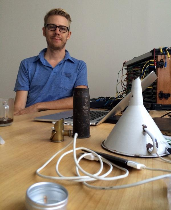 Justin Boyd in his Berlin studio.