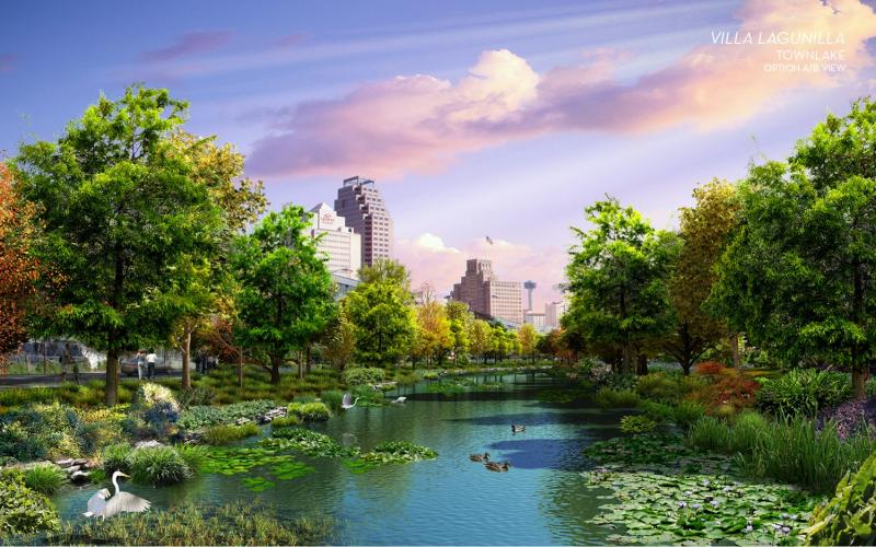 Townlake Area as imagined by designers