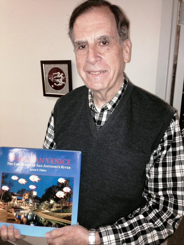 Lewis Fisher with his new book