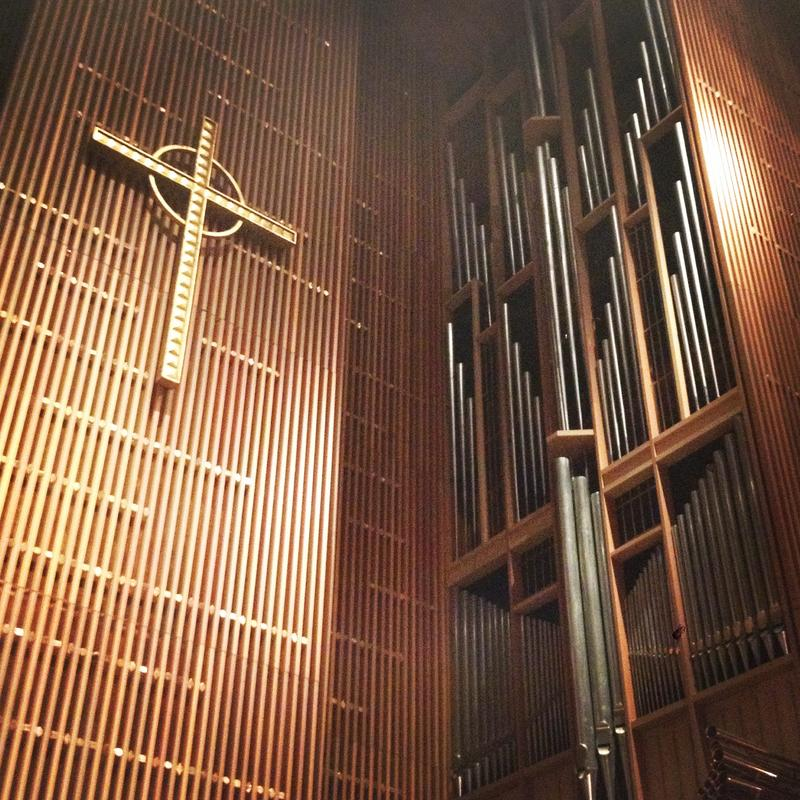 Trinity University's organ pipes at Marguerite B. Parker Chapel.