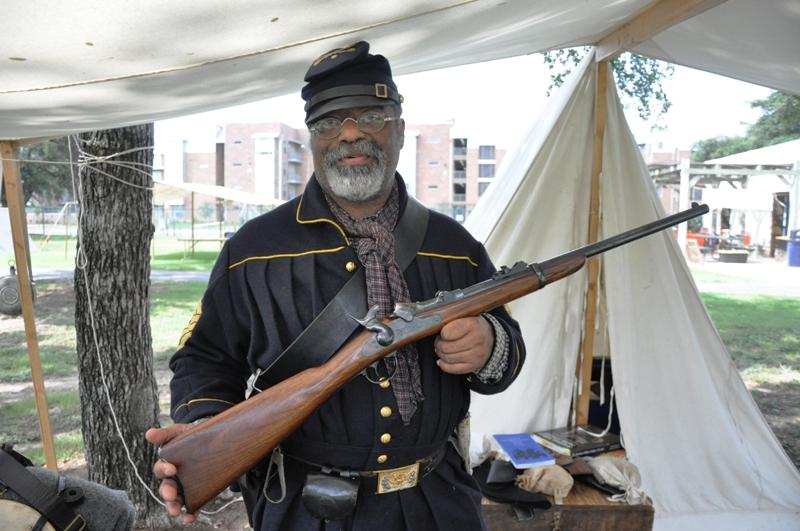 Buffalo Soldier with period firearm