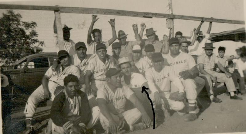 Felipe Delgado, the man in his iconic hat, started his little ball club as the New Braunfels Cardinals--Later the New Braunfels West End Lions--in 1947.  The team played at West End Complex built and funded by Mr. Delgado and community volunteers.