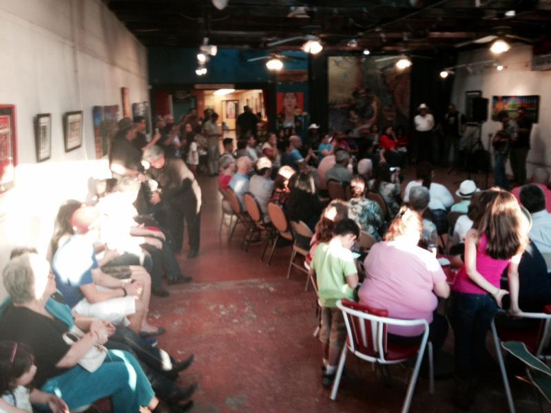 Crowd at Gallista Gallery