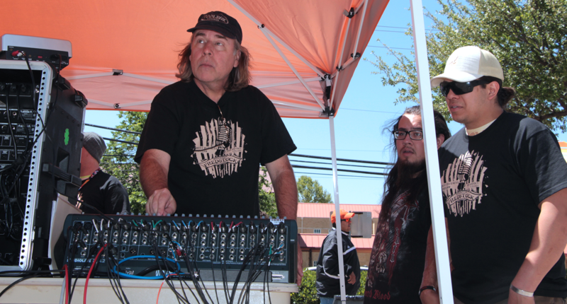 Donnie Meals instructing on sound board